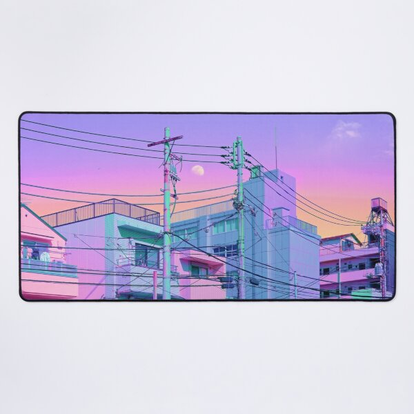 5PM in ethereal Tokyo Desk Mat
