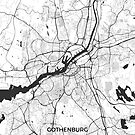 Gothenburg Karte Grau von HubertRoguski