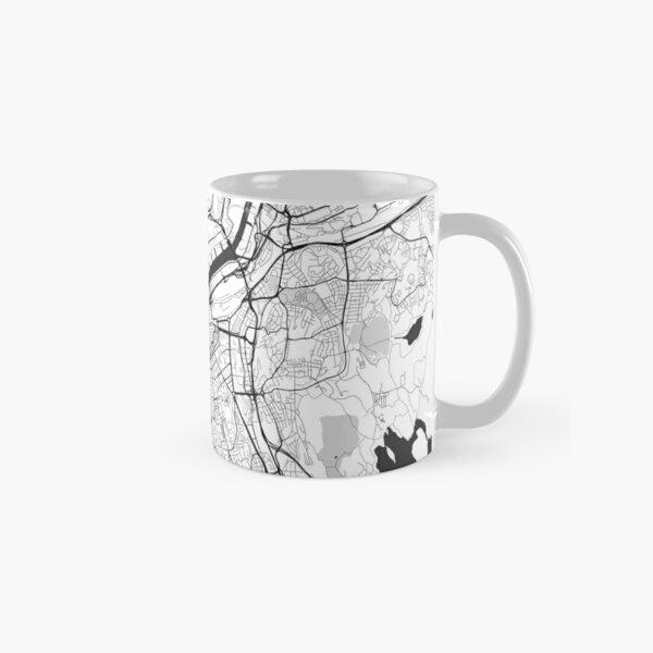 Gothenburg Map Gray Classic Mug