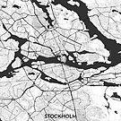 Stockholm Karte Grau von HubertRoguski