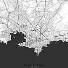 Montevideo Karte Grau von HubertRoguski