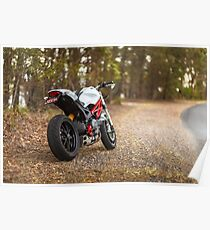 Ducati Monster 796 Rear View Poster