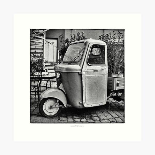 """Italian Vespa """"truck"""" Art Print"""