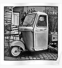 "Italian Vespa ""truck"" Poster"
