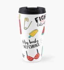 Feminism stickers set Travel Mug