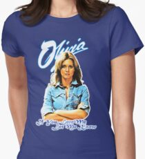 Olivia Newton-John - 70's  If You Love Me, Let Me Know Women's Fitted T-Shirt