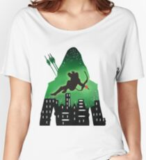 Green Arrow Double Exposure! Women's Relaxed Fit T-Shirt
