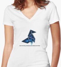 Heavy rain Women's Fitted V-Neck T-Shirt