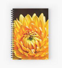 Bright Yellow Chrysanthemum Spiral Notebook