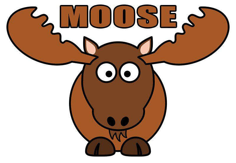 how to draw a moose cartoon