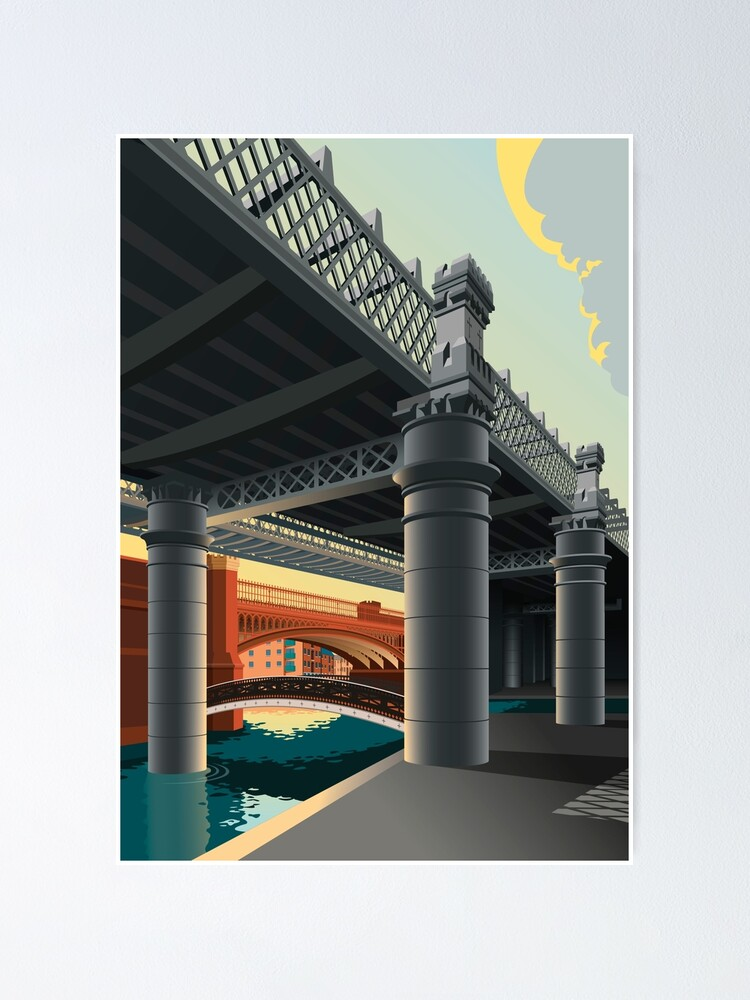 Alternate view of Castlefield, Manchester Poster