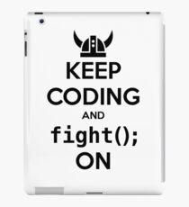 Vikings: Keep on coding iPad Case/Skin