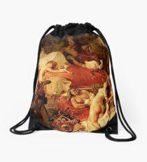 Death of Sardanapale death of saedanapalus Delacroix Drawstring Bag
