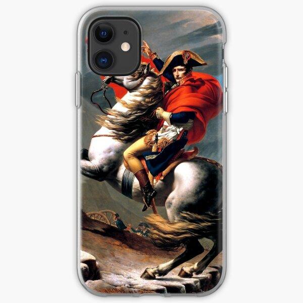 Bonaparte crossing the Great St. Bernard Jean louis David iPhone Soft Case