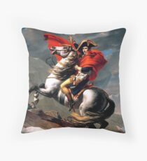 Bonaparte crossing the Great St. Bernard Jean louis David Throw Pillow