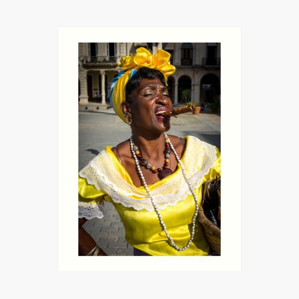 Girl from Havana Art Print