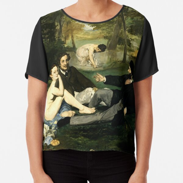 lunch on the grass manet Chiffon Top
