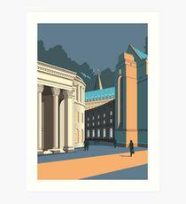 Manchester Library Art Print