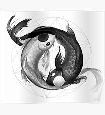 Yin Yang Koi Posters Redbubble