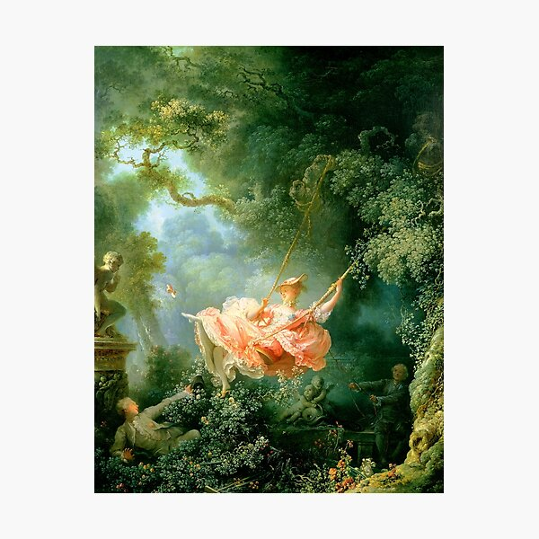 fragonard The lucky chances of the swings Photographic Print