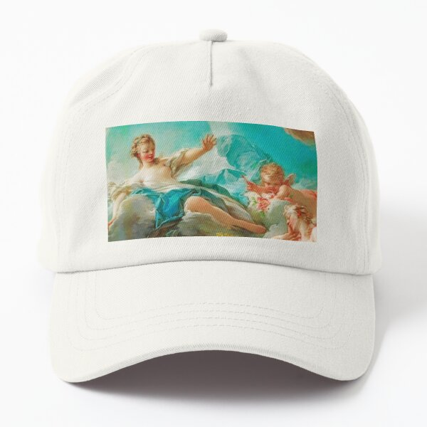 Diana, virgin goddess of the hunt Rococo (made more vibrant) (Dianna and Endymion Fragonard 1732) Dad Hat