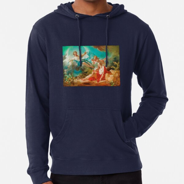 Diana, virgin goddess of the hunt Rococo (made more vibrant) (Dianna and Endymion Fragonard 1732) Lightweight Hoodie