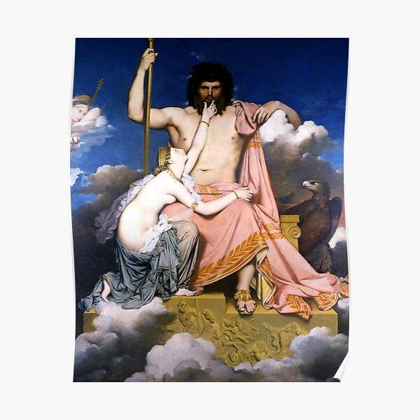 Jupiter and Thetis Ingres Poster