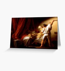 Le Verrou Fragonard  1777.  Greeting Card
