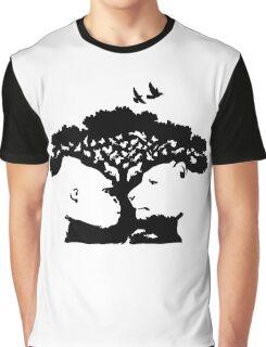 Animals Tree Graphic T-Shirt