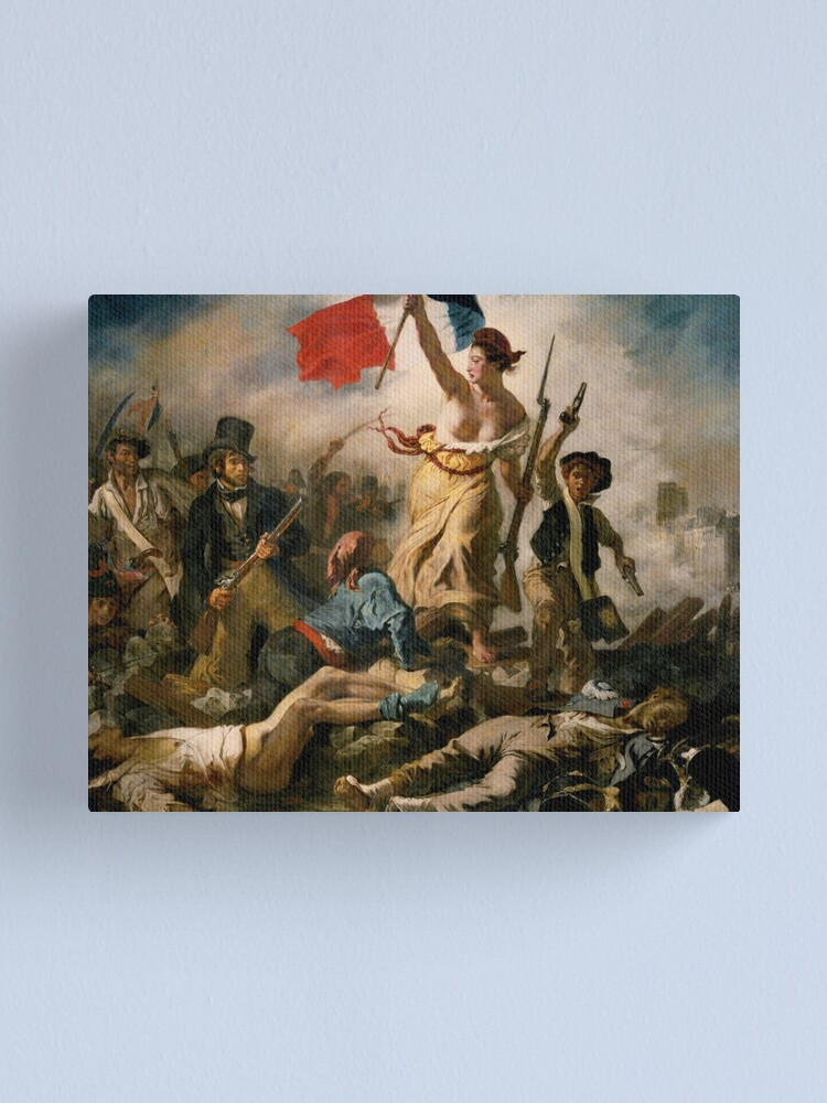 Liberty Leading The People French Revolution Eugene Delacroix 10x8 Inch Print