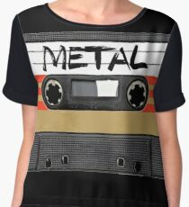 Heavy metal Music band logo Chiffon Top