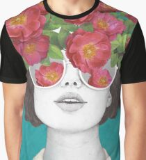 The optimist // rose tinted glasses Graphic T-Shirt