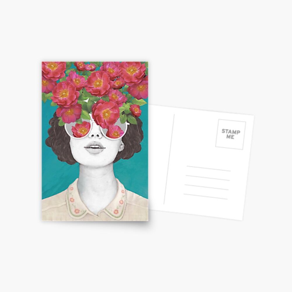 The optimist // rose tinted glasses Postcard