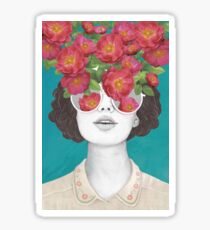 The optimist // rose tinted glasses Sticker