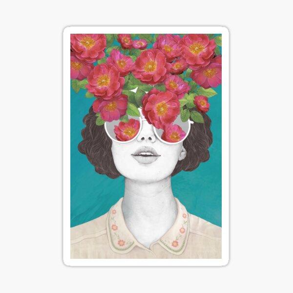 Der Optimist // Rose getönte Brille Sticker