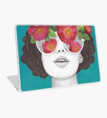 The optimist // rose tinted glasses Laptop Skin
