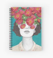 The optimist // rose tinted glasses Spiral Notebook