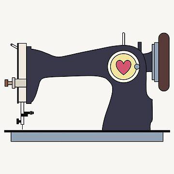 Retro Sewing Machine by RumourHasIt