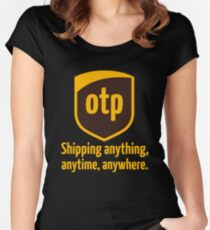 OTP - shipping anything, anytime, anywhere Women's Fitted Scoop T-Shirt