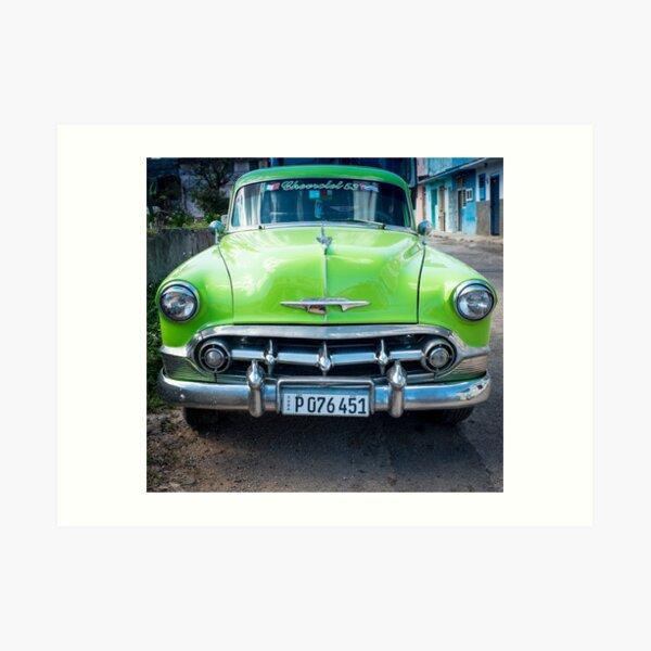 American car from the 50's in Havana, Cuba Art Print