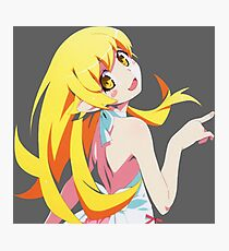 Oshino Shinobu Sticker 12 Photographic Print