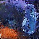 Fuzzy Polar Bear Cub Abstract by Christine Montague
