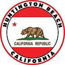Surfing HUNTINGTON BEACH CALIFORNIA Surf Surfer Surfboard Waves Ocean Beach Vacation Bear by MyHandmadeSigns