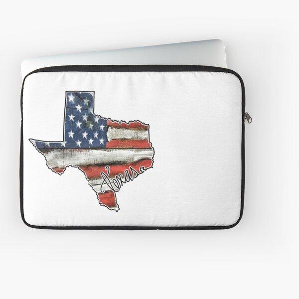 Texas State Outline Flag USA Laptop Sleeve