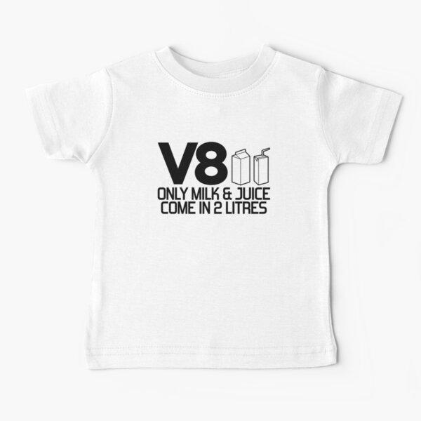 V8 - Seulement le lait et le jus viennent dans 2 litres (2) T-shirt bébé