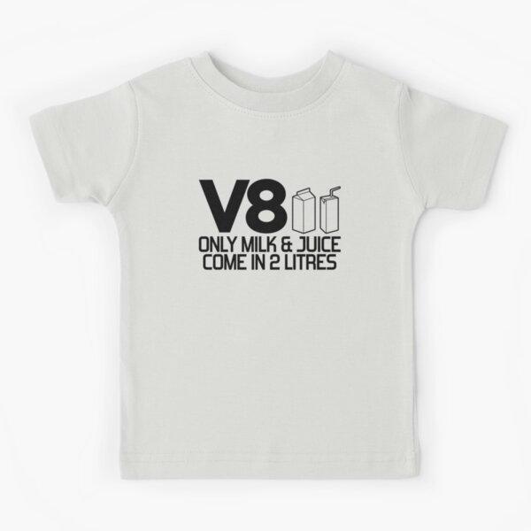 V8 - Seulement le lait et le jus viennent dans 2 litres (2) T-shirt enfant