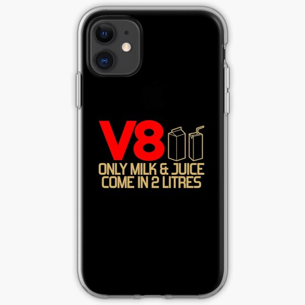 V8 - Only milk & juice come in 2 litres (3) iPhone Soft Case