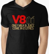 V8 - Only milk & juice come in 2 litres (3) Men's V-Neck T-Shirt