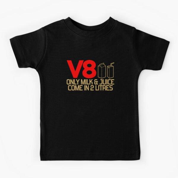 V8 - Seulement le lait et le jus entrent dans 2 litres (3) T-shirt enfant