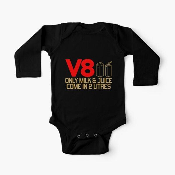 V8 - Nur Milch und Saft sind in 2 Litern erhältlich (3) Baby Body Langarm